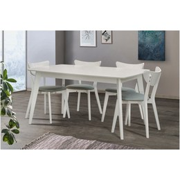 Стол обеденный Модерн белый 1,6