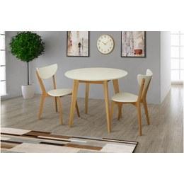 Стол обеденный Модерн D белый/бук