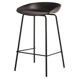 Полубарный стул B-06 черный