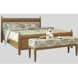 Ліжко двоспальне Марсель Текстиль дуб