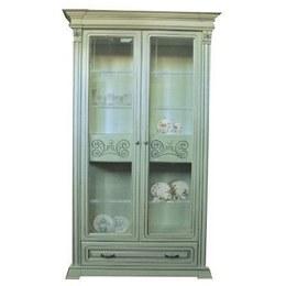 Витрина Эдельвейс 2-х дверная с ящиком