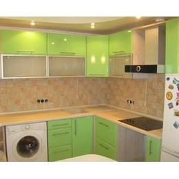 Кухня МДФ пленочный зеленый глянец