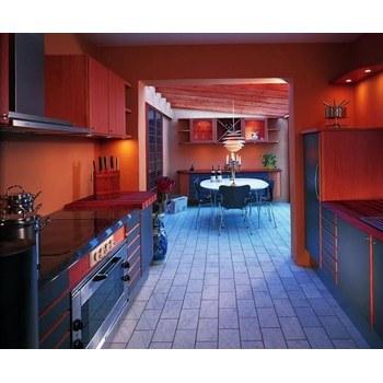 Кухня МДФ фарбований матовий чорний