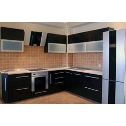 Кухня МДФ пленочный матовый черный
