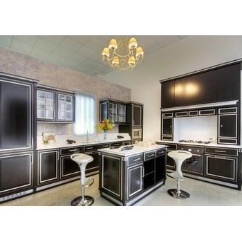 Кухня МДФ фарбований чорний матовий