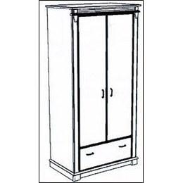 Шафа 2-х дверна Галичина 2Д / 1Ш - Т