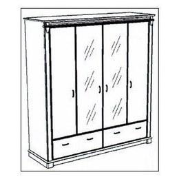Шкаф 4-х дверный Галиция 4Д/2Ш