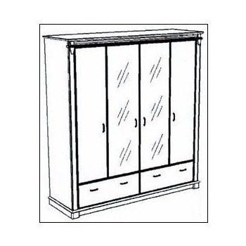 Шафа 4-х дверна Галичина 4Д / 2Ш