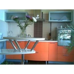Кухня МДФ пленочный оранжевый глянец