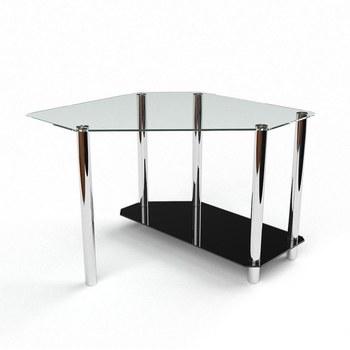 Письмовий стіл Каспіан Комп'ютерний, Скляний