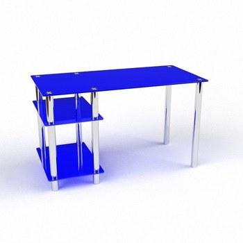 Стол письменный Дорис Компьютерный, Стеклянный+