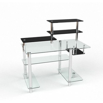 Письмовий стіл Дебют Комп'ютерний, Скляний