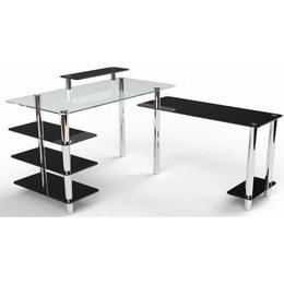Письмовий стіл Тритон Комп'ютерний, Скляний