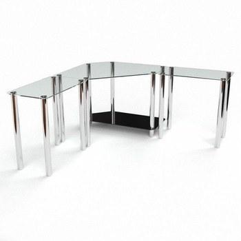 Стол письменный Кредо Компьютерный, Стеклянный+