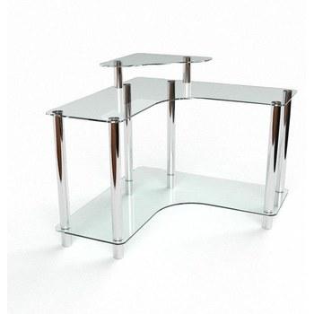 Письмовий стіл Вега Комп'ютерний, Скляний
