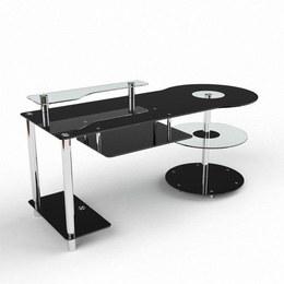 Письмовий стіл Комфорт Комп'ютерний, Скляний