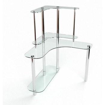 Письмовий стіл Діона Комп'ютерний, Скляний