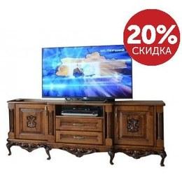 Тумба под TV Валенсия широкая 2 ящика