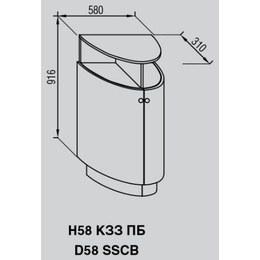 Кухонный модуль Валенсия Н 58КЗЗ ПБ (580х310х1016)