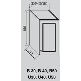 Кухонный модуль Валенсия В 40 (400х270х870)