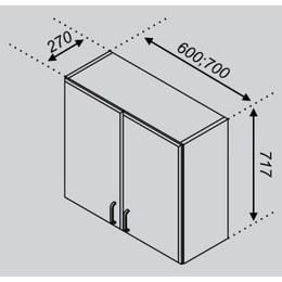 Кухонный модуль Импульс/Лира В 60 (600х270х717)