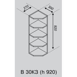 Кухонный модуль Импульс/Лира В 30КЗ (270х300х920)