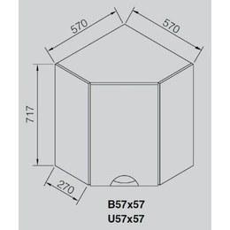 Кухонный модуль Адель Люкс В 57×57 (570х570х717)