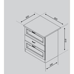 Кухонный модуль Импульс/Лира Н 80БСк (800х440х815)