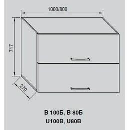 Кухонный модуль Адель В 100Б (1000х270х717)