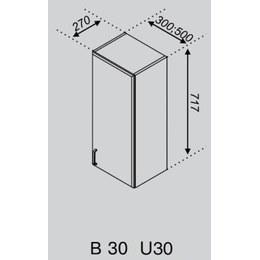 Кухонний модуль Імпульс/Ліра В 30 (300х270х717)