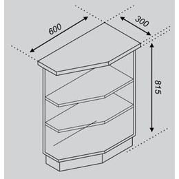 Кухонний модуль  Імпульс/Ліра Н 30КЗ(300х600х815)