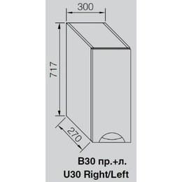 Кухонный модуль Адель Люкс В 30 (300х270х717)