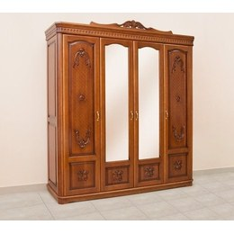Шафа 4-х дверна Флоренція з різьбленням