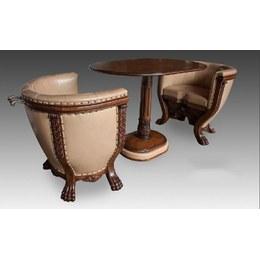 Комплект мягкой мебели тет-а-тет со столом (ткань)