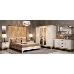 Спальня Мебус Баварія білий/дуб