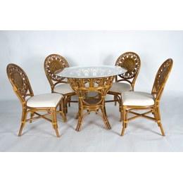 Обеденный комплект Аскания (стол +4 стула) орех