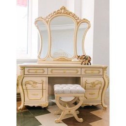 Стол туалетный Милан МДФ с зеркалом