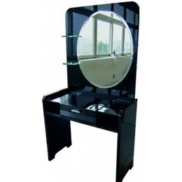 Стол туалетный Черный Бриллиант Z-967-2 МДФ с зеркалом