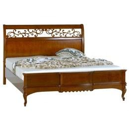 Кровать MАТТЕО Ciliegio деревянное изголовье