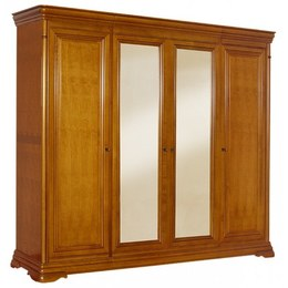 Шкаф 4-х дверный Elegance с зеркалами
