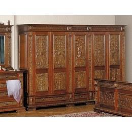 Шкаф 5-и дверный Italian Renaissance с тремя ящиками