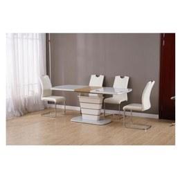 Стол TM-59 белый + шпон (дуб натуральный)
