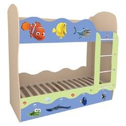 Кровать детская Волна двухъярусная