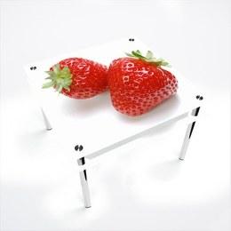 Стол обеденный Квадратный с проходящей полкой Red Berry