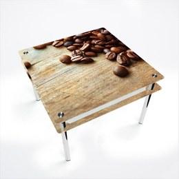 Стол обеденный Квадратный с проходящей полкой Coffee