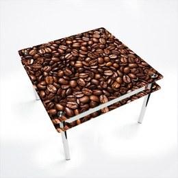 Стол обеденный Квадратный с проходящей полкой Morning aroma