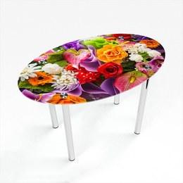 Стіл обідній Овальний Flowers